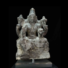 Indian carved granite statue of a deity