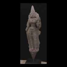 Indian carved granite statue of the Goddess Parvati