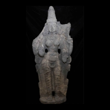 Indian large granite statue of the goddess Parvati