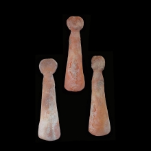Indus valley hollow red terracotta doll