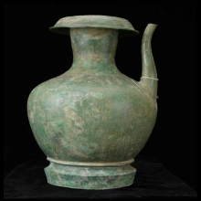 Khmer large spouted bronze vessel