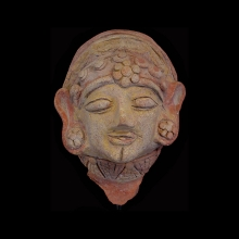 Kushan painted pottery head
