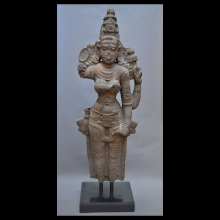 Large Granite Statue of the Goddess Lakshmi
