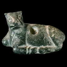 Mesopotamian basalt figure of a recumbent calf