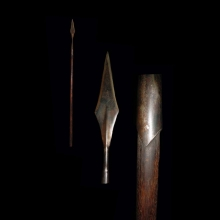 North Indian iron and wooden spear