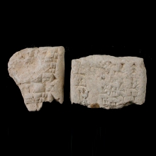 pair-of-fragment-from-sumerian-clay-envelopes,-with-cuneiform-inscription_x8582a