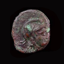 Parthian bronze coin of Pakoros the first.