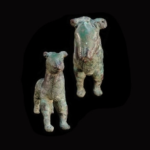 Rare Elamite hollow cast copper figure of a wild bull.