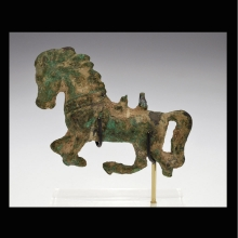 Roman bronze figure of a galloping horse