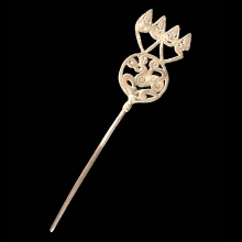 Silver hairpin with Scythian influence, Gilgit region, Karakoram Range, Central Asia