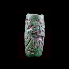 Superb large Bactrian copper cylinder seal
