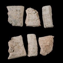 Three fragments from Sumerian clay tablets