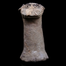 An Indus Valley solid terracotta of a zoomorphic Deity with Simian features