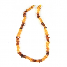 Baltic region amber bead necklace