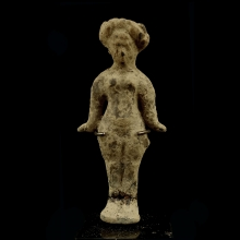 Hellenistic clay female figurine