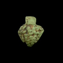 Amarna green faïence amulet in the form of grapes