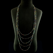 Pyu coloured glass bead necklace