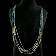 Pyu multi-strand glass bead necklace