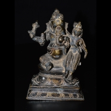 South indian figure of Ganesh and consort