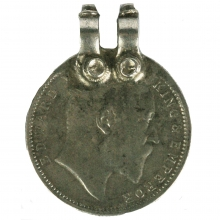 Edward VII one Rupee coin as a pendant, 1903 British India