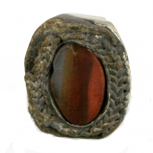 Hellenistic silver ring with agate bezel