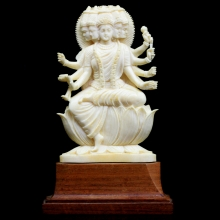 An Indian ivory figure of Panchavaktra