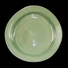 A Korean studio porcelain plate