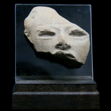 A Pre-Colombian Mayan clay figurative fragment