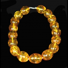 Baltic yellow amber bead necklace.