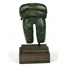 An Olmec serpentine standing figure
