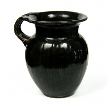 A Hellenistic black glazed Olpe
