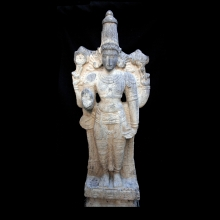 A South Indian Gray Granite Figure
