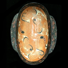 A large Han Dynasty wood and lacquer