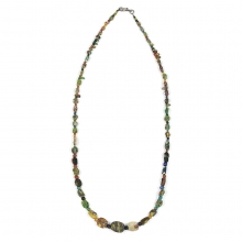 A Roman-Egyptian multi-coloured glass bead necklace