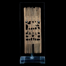 An Egyptian Coptic wooden hair comb