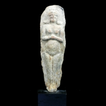 An Old Babylonian clay standing figure of a goddess Astarte / Ishtar