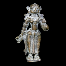 An Indian bronze figure of Parvati