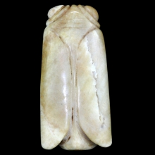 A Rare Chinese Hongshan jade Cicada shaped ornament