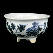 A late Qing blue and white censer