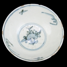 A Ming blue and white bowl