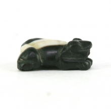 A Pyu to Pagan banded agate bead in the form of a frog