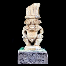 Egyptian double sided amulet of the dwarf god Bes