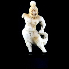 A Chinese Tang Dynasty marble Lokapala figure