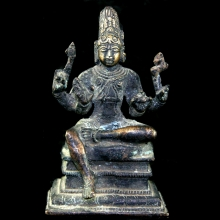 A South Indian bronze figure of Shiva seated