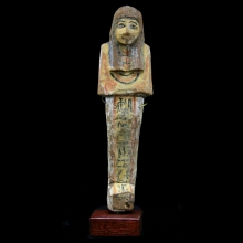 18th Dynasty Painted Wood Shabti