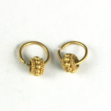 A pair of Roman gold child's earrings