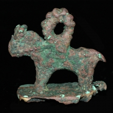 Bactrian bronze horse amulet with stamp