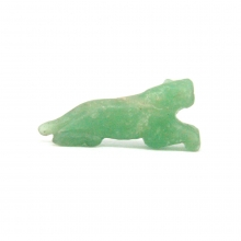 A Pyu green jade or nephrite bead in the form of a tiger