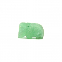 A Pyu green jade bead in the form of an elephant