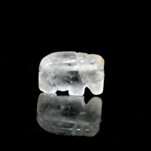A Pyu rock crystal bead in the form of an elephant